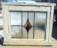 Antique Stain Glass Window in Original Frame | Collectors Weekly
