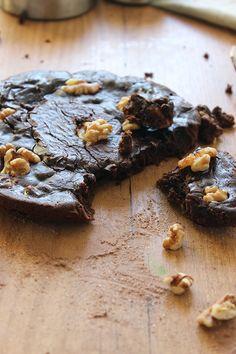 Postre sin horno Brownie en la sartén / Brownie in a saucepan  no bake dessert.