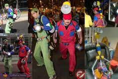 For New York Comic Con the year, my friend Greg and I decided to merge Super Mario Bros and Ghostbusters. Our first challenge was to differentiate ourse. Ghostbusters Costume, King Boo, Costume Works, Burlesque Costumes, Halloween Costume Contest, Super Mario Bros, Watch V, My Friend, Challenges