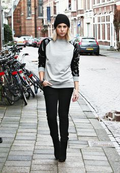 OUTFIT | LEATHER SWEATER - FashionHoax | creatorsofdesire.com