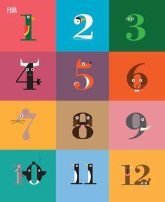 Fun animal numbers, nice colours too