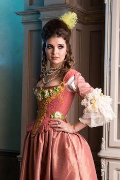 Rose Rococo dress, costume pink wedding dress, made to order, from another fabrics - Kurze Haare Ideen Pink Wedding Dresses, Wedding Gowns, Head To Toe, Belle Epoque, Mode Baroque, Rococo Dress, Baroque Dress, Venice Carnival Costumes, Renaissance Fair Costume