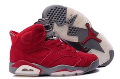 29061b274f07 Shop Top Brands and the latest styles Air Jordan 6 Suede Leather Red Super  Deals of at Pumarihanna.