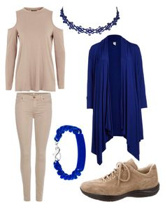 """Beige+Blue"" by nicholasisnothing ❤ liked on Polyvore featuring MM6 Maison Margiela, Topshop, 7 For All Mankind, Prada and plus size clothing"