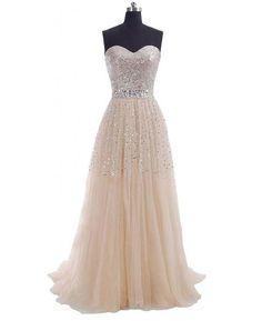 6bc5e1604ad3 2015 - 2016 Unique strapless plus size sprakly sequin champagne long  goddess formal gown prom dress