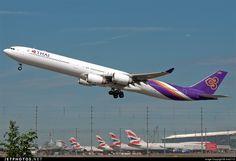 Airbus A340-642 HS-TNA 677 London Heathrow Int'l - EGLL