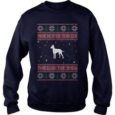 Awesome Tee Manchester Terrier Through the snow T-Shirt