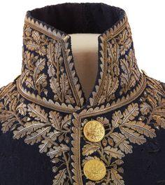 c1812 Dress Uniform Jacket belonging to General Prince Eugene de Beauharnais details of collar