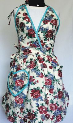Avental modelo vestido Linha Floral  R$66.90