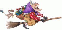"""Questa notte la vecchietta brutta che si chiama Befana a cavallo di una scopa ed un grosso sacco è passata attraverso la cappa del camino per entrare in tutte le case per lasciare nelle calze dolciumi e doni ai bambini buoni mentre a quelli che sono stati un po' """"biricchini"""" del carbone. PICCOLA CURIOSITA': Perché Befana?E' un termine che deriva dal greco """"Epifania"""" che significa """"apparizione, manifestazione"""". Infatti nella notte tra il 5 ed il 6 gennaio i Re Magi fecero visita a Gesù per…"""