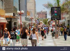 Chile Arica Paseo Peatonal 21 de Mayo pedestrian mall shopping business Hispanic…