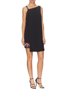 Partial Print Hem Shift Dress by Versace Collection at Gilt