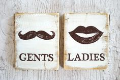 Wood WC sign Toilet door signs Male and Female set Restroom decor Cabin sign Eco friendly by WoodStreets on Etsy