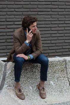 ツイードジャケット×ジーンズ | No:64991 | メンズファッションスナップ フリーク - 男の着こなし術は見て学べ。