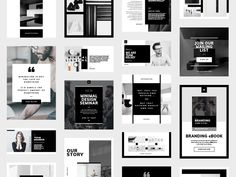 """Social Media Pack / Minimal Design / For those looking for a professional presentation, """"Kelsey Social Media Template, Social Media Design, Social Media Graphics, Art Design, Icon Design, Graphic Design, Design Cars, Shape Design, Instagram Grid"""