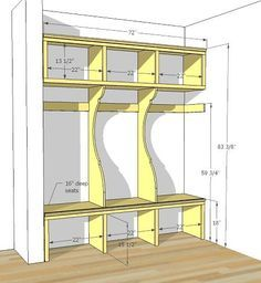 """mudroom in garage - not that we need a mud room in FL... Bug it'd be an awesome """"farm"""" room idea!"""