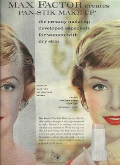 Max Factor creates Pan-Stik Make-Up. This was a staple for many years.