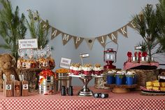The food table is a great opportunity for theme-based decorating!