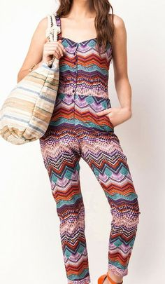 Trending multicolour aztec-print cotton sweetheart jumpsuits best for beach  via @Roposo