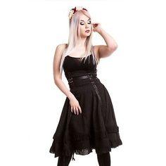 Vixxsin Gothic High Waist Rock - Stray Cat