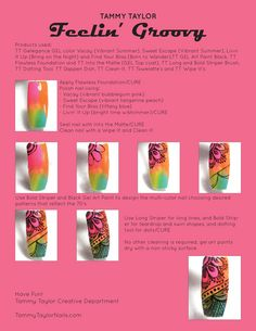"♥ Tammy Taylor ""Feelin' Groovy"" Nail Design Step by Step Great Nails, Cute Nail Art, Cute Nails, Fancy Nails, Diy Nails, Acrylic Nail Designs, Nail Art Designs, Nail Art Modele, Makeup Forever Hd Foundation"