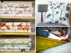 Ink & Spindle - I would love a studio like these girls have.  Love their ethics and designs