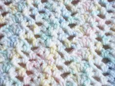 Pastel Multi Color Crochet Baby Blanket by CrochetedFashions, $45.00