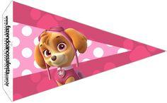 Uau! Veja o que temos para Bandeirinha Sanduiche 4 Patrulha Canina para Meninas