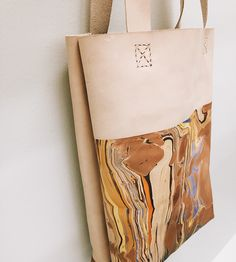Lelia Marbled Leather Tote by Molly Virginia Made on Scoutmob