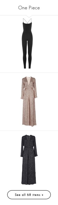 """""""One Piece"""" by isthelastofus ❤ liked on Polyvore featuring jumpsuits, dresses, rompers, valentino, jumpers, black, playsuit jumpsuit, jump suit, fitted jumpsuit and romper jumpsuit"""