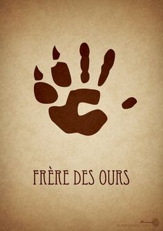 "Frere des Ours by BlackCyanide-fr.deviantart.com on @deviantART - Second in a series of minimalist Disney movie posters: ""Brother Bear""."