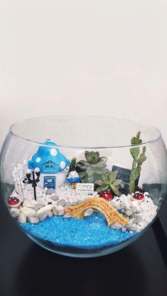 #terrarium #teraryum #suculent #succulent #smurf #village #smurfs #cactus #terraryum #sukulent #smurfsvillage #lake #flower