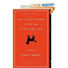 """Again, I do not usually read novels, but this one grabbed me and held my attention until I was finished. The author takes you inside the thoughts of a strange boy (I assume autistic) who takes it upon himself to solve the mystery of the neighbor lady's """"murdered"""" dog. A touching story with loads of innocent comedy."""