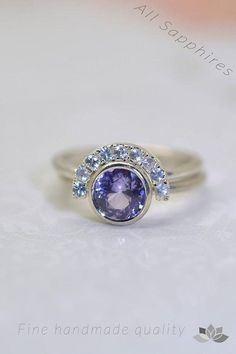 69149ca48 A set of sapphires rings purple sapphire ring with white Sapphire Jewelry, Diamond  Jewelry,