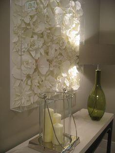 love this paper flower installation!