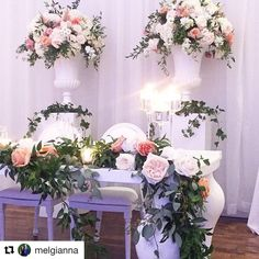 #Repost @melgianna with @repostapp ・・・ Whimsical sweetheart table 🌿 #maddyk @fleursdesjardinsbypaul