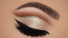 ⭐Champagne Gold Glitter Cut Crease MakeUp Tutorial | Melissa Samways⭐