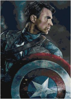 Cross Stitch Pattern AVENGERS Captain America by SUNSHINEYDAY0630, $4.00