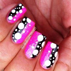 Instagram photo by divalicious01 #nail #nails #nailart <3<3<3BOLD - PINK + FABULOUS<3<3<3