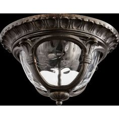 Quorum Riviera 2 Light Flush Mount Finish: Oiled Bronze