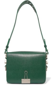 b4c9522e66 Forest-green textured-leather with magnetic-fastening front flap. Handbag  Design Inspiration