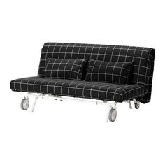 IKEA PS MURBO Futon IKEA Extra covers make it easy to give both your sofa and room a new look. Comfortable and firm foam mattress for use every night. Sofa Cama Ikea, Ikea Ps, Futons, Ikea Furniture, Living Furniture, Black Furniture, Convertible 2 Places, Furniture, Black And White
