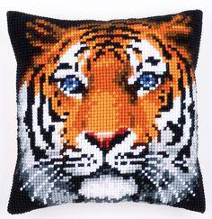 #needlework #vervaco #cushions #crossstitch #tiger