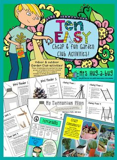 Teachers – tearing your hair out trying to dream up yet another activity for your lunchtime club? (On top of trying to juggle your own class, prepare for lessons and actually eat lunch?) Then this is the pack for you! This Garden Club activity pack contai Outdoor Education, Outdoor Learning, Kids Education, Green School, School Clubs, Outdoor Classroom, Science Classroom, Nature Activities, Environmental Education