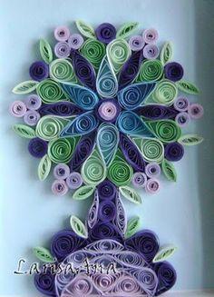 #papercraft #quilling Волшебная сказка про квиллинг: Декоративные деревья