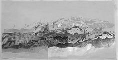 Mountains by ilil iram, via Behance