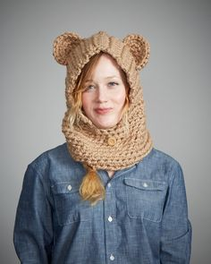 Hey, I found this really awesome Etsy listing at https://www.etsy.com/listing/164967483/beige-bear-snoodie