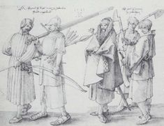 """The gallowglass' (also spelt galloglass, gallowglas or galloglas; from Irish: gallóglaigh) were a class of elite mercenary warriors who principally were members of the Norse-Gaelic clans of Scotland between the mid 13th century and late 16th century. As Scots, they were Gaels and shared a common background and language with the Irish, but as they had intermarried with the 10th century Norse settlers of western Scotland, the Irish called them Gall Gaeil (""""foreign Gaels"""")."""