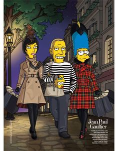 A jolly jaunt in tartan with Jean Paul Gaultier. All clothing and accessories on linda and Marge, Jean Paul Gaultier.