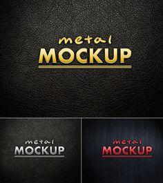 Free Metal Logo PSD Mockup